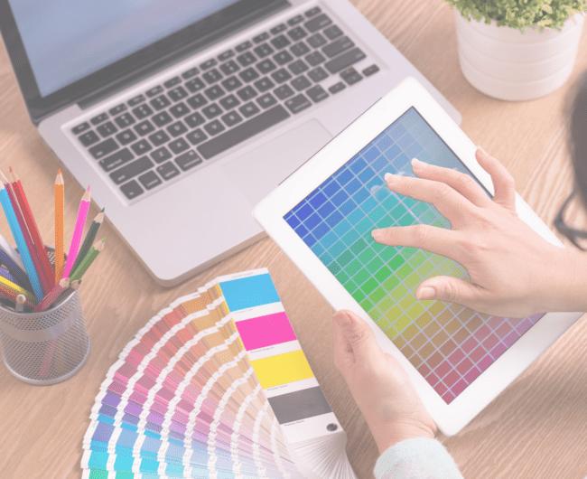 Graphic Designer choosing colours